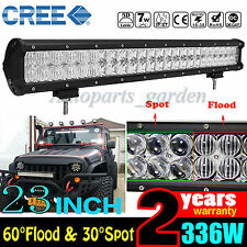 "6D 23INCH/24"" 336W CREE LED LIGHT BAR COMBO OFFROAD 4WD TRUCK BOAT SUV FOR JEEP"