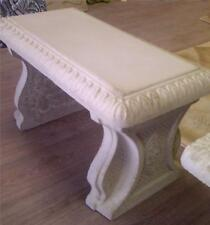 Concrete Cement Bench Mold, Classic Egg and Dart top and 1 Leg mold.