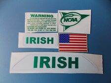 Notre Dame Irish Chrome Green football helmet decals set