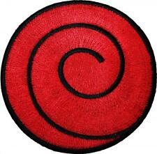 Naruto Red Spiral Badge Embroidered Patch 10cm