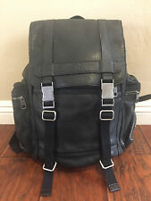 DOLCE & GABBANA MEN'S RUCKSACK BACKPACK TRAVEL Leather Black MINT condition