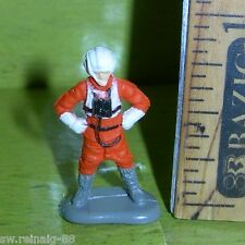 STAR WARS Micro Machines REBEL X-WING PILOT Rogue Yavin Figure #3  Galoob 1996