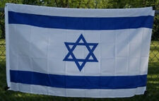 Israel Country Flag Nation of Israel 3x5 ft Print Polyester Flag Header Grommets