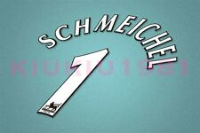 Manchester United Schmeichel #1 PREMIER LEAGUE 97-06 White Name/Number Set