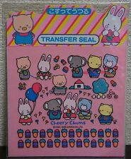1985 Vintage Sanrio Cheery Chums Transfer Seal *Japan