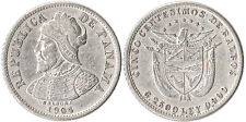 1904 Panama 5 Centesimos Silver Coin Balboa Km#2