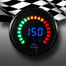 LED DIGITAL OIL TEMPERATURE GAUGE SMOKED FACE 52mm FOR DASHBOARD OR POD