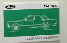 Manual de instrucciones/owners manual Ford Taunus 1976