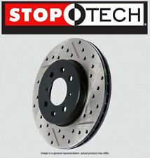 FRONT [LEFT & RIGHT] STOPTECH SportStop Drilled Slotted Brake Rotors STF35015