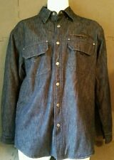 Harley Davidson insulated snap button jacket shirt. Size: small. Blue
