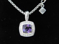 DAVID YURMAN 7MM AMETHYST AND DIAMOND PETITE ALBION NECKLACE NEW