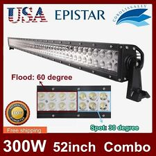 52Inch 300W Led Work Flood and Spot Light Bar Combo SUV Boat Driving Lamp 4x4