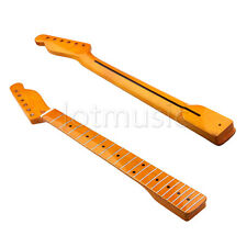 Classic yellow Maple 22 Fret Electric Guitar Neck For TL Replacement