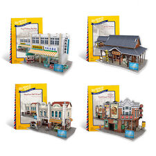 New Taiwan Flavor World Style 3D Puzzle Paper Model Jigsaw 4 puzzles inside