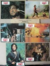 RAMBO II LA MISSION - Stallone,Crenna - JEU B 6 PHOTOS / 6 FRENCH LOBBY CARDS
