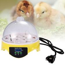 Automatic Digital 7 Egg Turning Incubator Chicken Hatcher Temperature Control LN