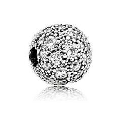 New Authentic Pandora Charm 791286CZ Cosmic Stars With CZ Clip Bag Included