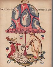 1920 Jugend January 14 German Art Nouveau Cover - Chinese serves his Mistress