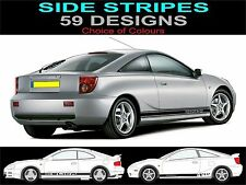 toyota celica side stripe decals sticker fit toyota celica choice of design