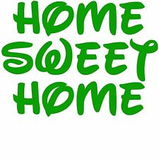 Home Sweet Home Vinyl Decal Sticker for Home Door Room Bathroom Windows Toilet