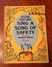 """Vintage """"Sing A Song of Safety"""" by Irving Caesar- Illustrated- 1937"""
