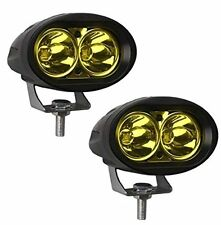 2 Pcs of YELLOW Oval Shape 20 Watt Cree car / Bike led fog light bar Waterproof