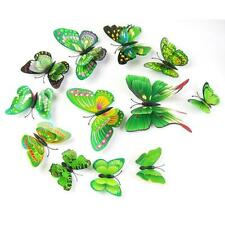 12x 3D Butterfly Wall Sticker Fridge Magnet Party Home Room Decor Decal Applique