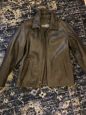 EDDIE BAUER JOURNEYMAN BROWN LEATHER JACKET MEN'S SIZE MEDIUM NEW WITHOUT TAGS