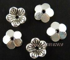 300pcs Tibetan Silver Nice Flower Bead Caps 10x3mm 11718