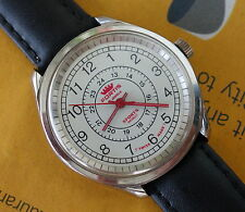 Vintage Men FORTIS Manual Wind Wrist Watch 24-Hour Military Issued, SWISS Made