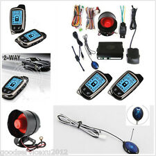 High Quality 2-Way 433.92Mhz Car Antitheft Alarming Kit 2*LCD Distance Controler