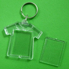 50 Transparent Blank Insert Photo Picture Frame Keyring Split Ring keychain &1