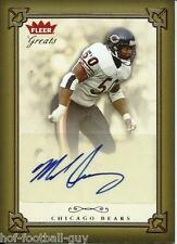 MIKE SINGLETARY SIGNED FLEER GREATS CERTIFIED~PRO FOOTBALL HALL OF FAME~HOF AUTO