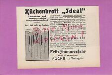 Vanitose-Solingen, Pubblicità 1906, Fritz Hamm fabbrica di guida cucina Brett ideale COLTELLO