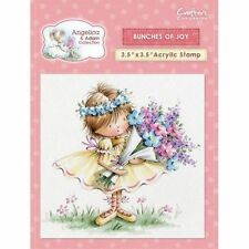 New Crafters Companion Angelina + Adam Clear Stamp Bunches of Joy