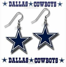 DALLAS COWBOYS EARRINGS - NFL LICENSED JEWELRY- HOT GIFT ANYWHERE - ANYTIME #BH*
