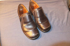 Joseph Seibel Size 6 M  Brown Leather Mules W/ Zip Side Excellent Condition