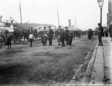 Adelphi Quay Waterford Ireland 1914 Soldiers Going Away to World War 1 10x8 Inch