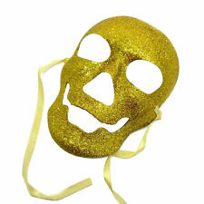 Gold Skull Mask Pirates Of The Caribbean Undead Halloween Fancy Dress Mask
