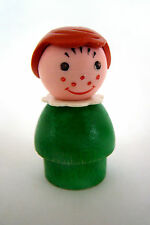 Vintage FISHER-PRICE Little People Green Farm Girl #915 w/ Freckles Brown Hair