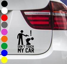 WD Autoaufkleber DON'T TOUCH MY CAR Tuning Aufkleber Sticker Nicht anfassen! JDM