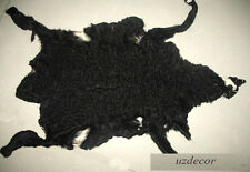Uzbekistan Curly Black Persian Lamb Karakul, Koraqol, Swakara black fur Pelts