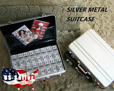 "1/6 Metal Briefcase Cash Box SILVER For 12"" Hot Toys Barbie Phicen Figure USA"