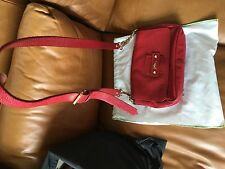 Small Red Leather Longchamp Bag Very Good Condition.