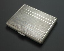 Antique Solid 800 Silver Cigarette Small Business Card Holder Case Art Deco