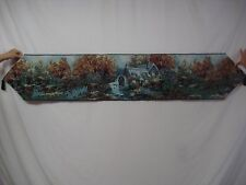 """USA Made NWOT The Cottage Mill Fall 13"""" x 72"""" Tapestry Table Runner #46"""