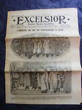 Journal Excelsior 26 janvier 1916 Roi du Monténégro à Lyon Guerre 1914 1918