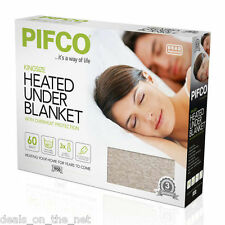 Pifco King Size Dual Control Heated Electric Under Blanket PE149 3 Heat Settings