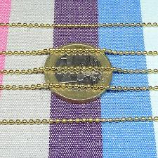 4 Metros de Cadena Dorada 1,5mm A146 Chain Chaîne Kette Metalic Silver Catena