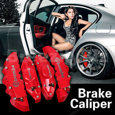 Sliver Brembo Type Red Brake Caliper Covers Kits Universal Disc Front Rear BBD03